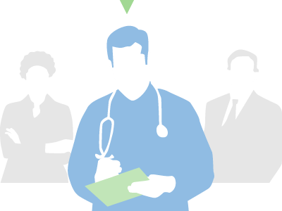A business women, business man and a medical professional being recruited for a research survey